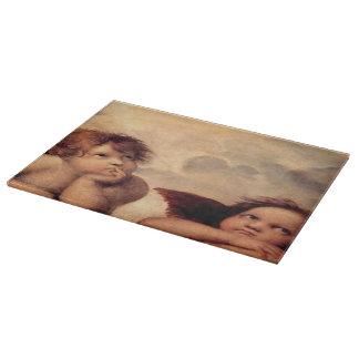 Raphaelの天使のガラスまな板 カッティングボード