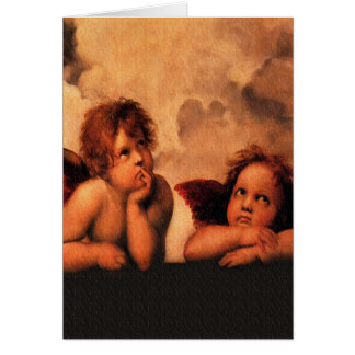 Raphaelの天使の天使の芸術 カード