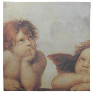 Raphaelの天使の綿のナプキン ナプキンクロス