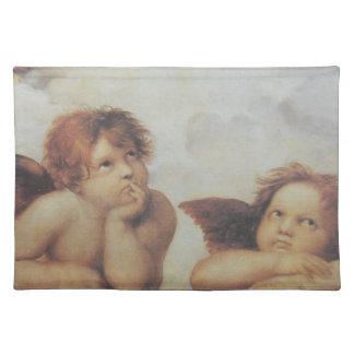 Raphaelの天使の綿のランチョンマット ランチョンマット