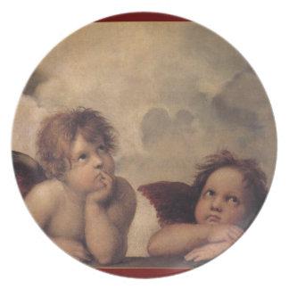 Raphaelの天使の装飾的なクリスマスのプレート プレート