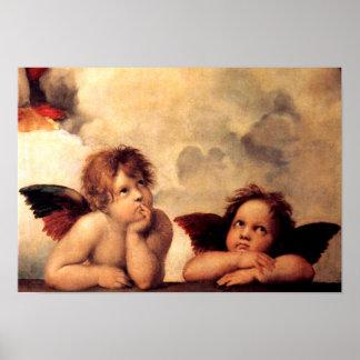 Raphaelの天使のSistineマドンナポスター ポスター