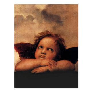 Raphaelの天使Sistineマドンナ2つの天使 ポストカード