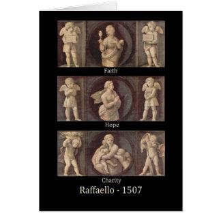 Raphaelの挨拶状による信頼の希望の慈善 カード