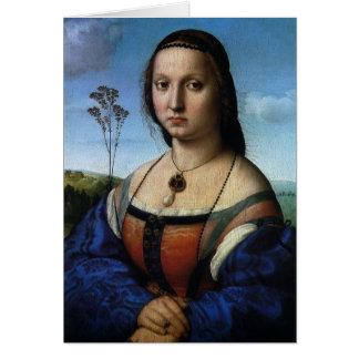 RaphaelまたはRaffaello著Maddalena Doniのポートレート カード