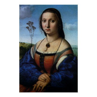 RaphaelまたはRaffaello著Maddalena Doniのポートレート ポスター
