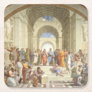 Raphael -アテネの学校 スクエアペーパーコースター