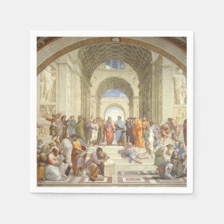 Raphael -アテネの学校 スタンダードカクテルナプキン