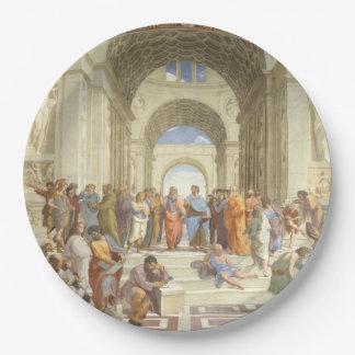 Raphael -アテネの学校 ペーパープレート