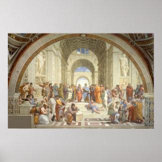 Raphael -アテネの学校 ポスター