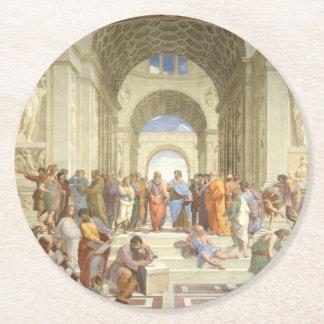 Raphael -アテネの学校 ラウンドペーパーコースター
