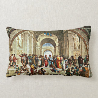 Raphael: アテネの絵画の学校 ランバークッション