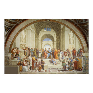 RAPHAEL -アテネ1512年の学校 ポスター