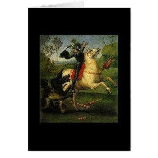 Raphael (1483-1520年)によるセントジョージそしてドラゴン カード