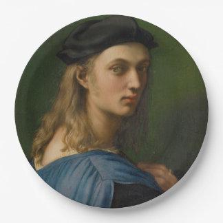 Raphael - Bindo Altovitiのポートレート ペーパープレート