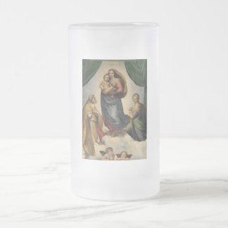 Raphael - Sistineマドンナ フロストグラスビールジョッキ