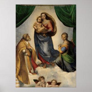 Raphael - Sistineマドンナ ポスター