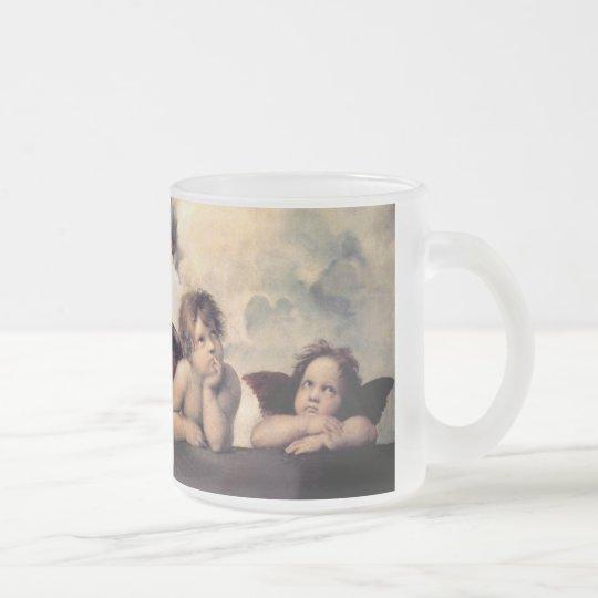 Raphael , Sistine Madonna フロストグラスマグカップ