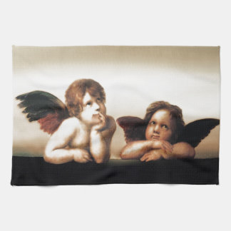 Raphael Sistine Madonnasの天使のバージョン2 キッチンタオル