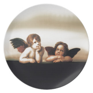 Raphael Sistine Madonnasの天使のバージョン2 プレート