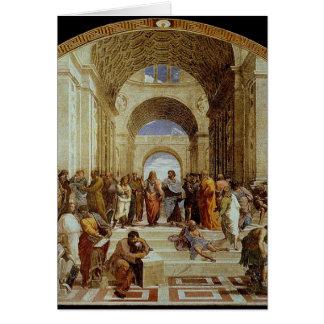 """Raphael's """"アテネの学校"""" (1511年頃) カード"""