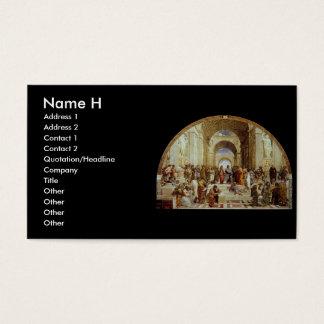 """Raphael's """"アテネの学校"""" (1511年頃) 名刺"""