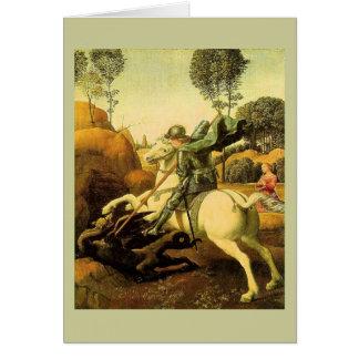 """Raphael's """"セントジョージおよびドラゴン"""" (1505年頃) カード"""