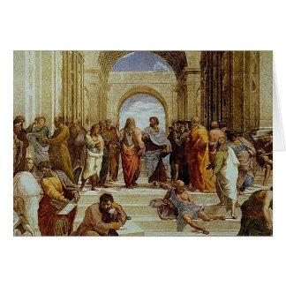 "Raphael's ""1511年頃アテネの学校""の詳細 カード"