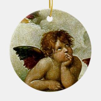 "Raphael's ""Sistineマドンナ""の詳細(1513年頃) セラミックオーナメント"