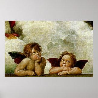 """Raphael's """"Sistineマドンナ"""" (1513年頃) (詳細) ポスター"""