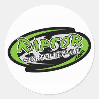 RaptorStarterのクラッチのステッカー ラウンドシール