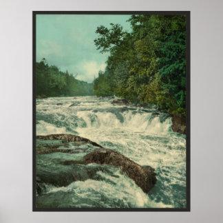 Raquetteの川のRaquetteの滝 ポスター