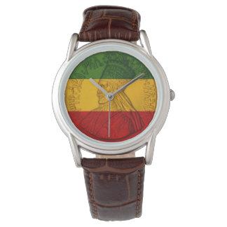 Rasta Haile Selassie Watch Rastafarian Colors 腕時計