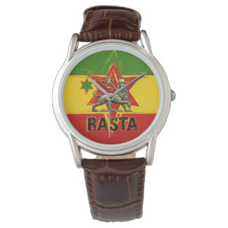 Rasta Watch Lion of Judah Red Gold Green Design 腕時計