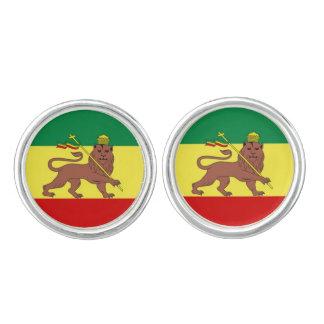 Rastafariのレゲエ音楽旗 カフスボタン
