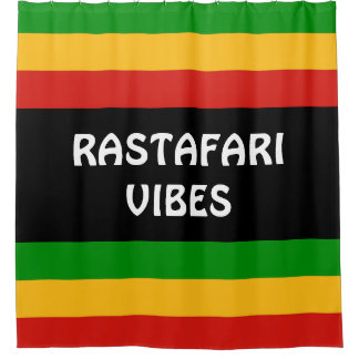 RASTAFARIの旗色 + あなたのアイディア シャワーカーテン