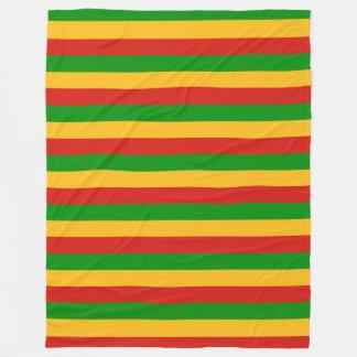 RASTAFARIの旗色 + あなたのアイディア フリースブランケット