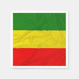 Rastafarianのしわを寄せられた旗 スタンダードカクテルナプキン