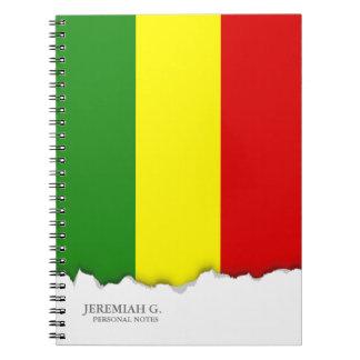 Rastafarianのプライドの旗 ノートブック