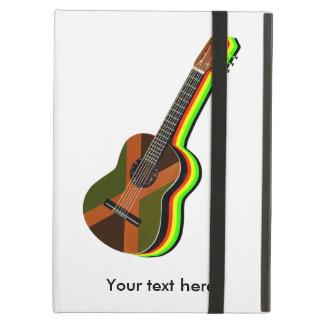 Rastafarianのレゲエのギターのジャマイカの旗 iPad Airケース