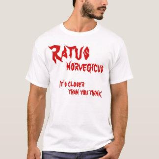 Ratusのnorvegicus、それは考えるより、より近いです Tシャツ