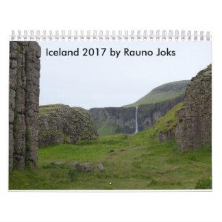 Rauno Joks著アイスランド2017年 カレンダー