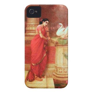 Ravi Varmaの絵画Hamsa Dhayamthi Case-Mate iPhone 4 ケース