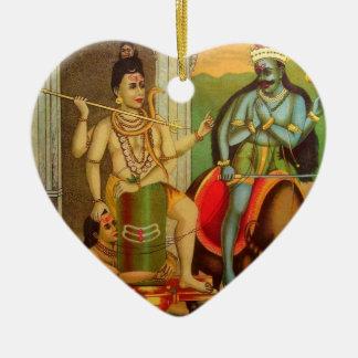 RavivarmaおよびMarkendeya セラミックオーナメント