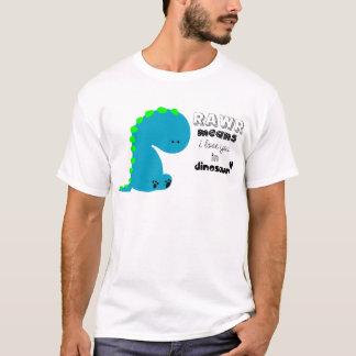 RawrはI愛を恐竜のワイシャツの意味します Tシャツ