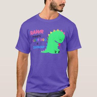 Rawrはi愛を恐竜のワイシャツ#3の意味します Tシャツ