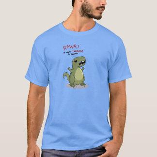RawrはI愛を恐竜の意味します Tシャツ