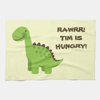 Rawrr! 空腹な恐竜! 台所タオル