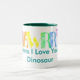 rawrzz、平均I愛恐竜の ツートーンマグカップ