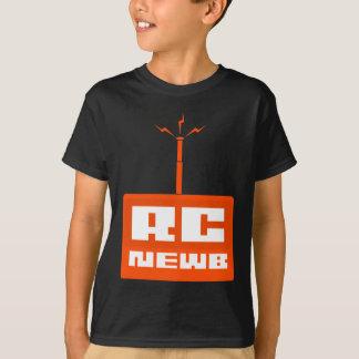 RC Newbの子供の黒いワイシャツ(オレンジロゴ) Tシャツ